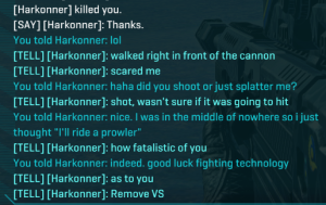 I jumped on this player's tank because I was in the middle of nowhere and had a death-wish.